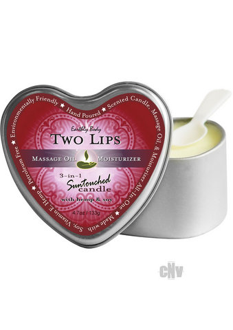 Heart Massage Candle Two Lips