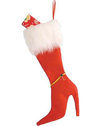 High heel stocking  - red