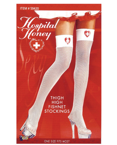 Hospital honey nurse thigh high stockings