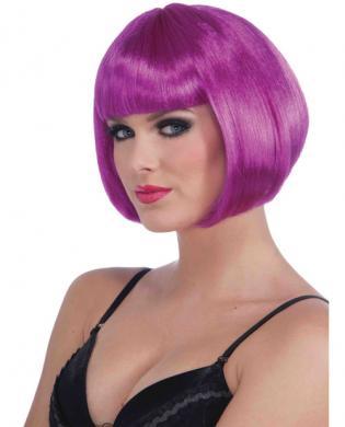 Neon Bob Wig - Purple