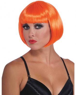 Neon Bob Wig - Orange