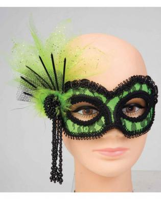 Neon Lace Mask - Green