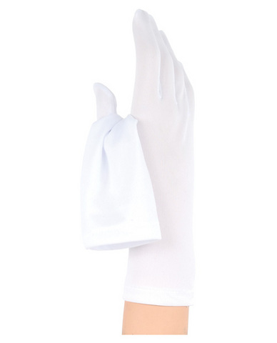 Satin Gloves - White
