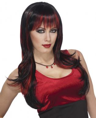 Vicious Wig - Black/Red