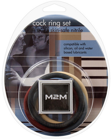 M2m nitrile cock ring  2in - pack of 5 asst