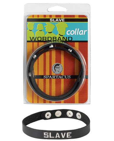 Wordband Collar - Slave - Black