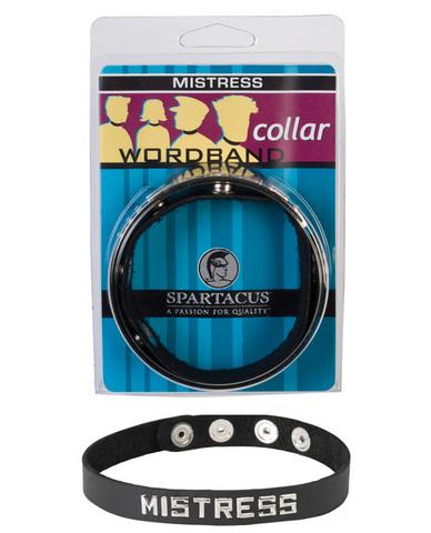 Wordband Collar - Mistress - Black