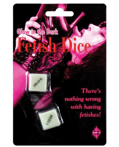 Glow in the dark fetish dice game