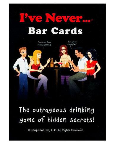 I've never bar cards