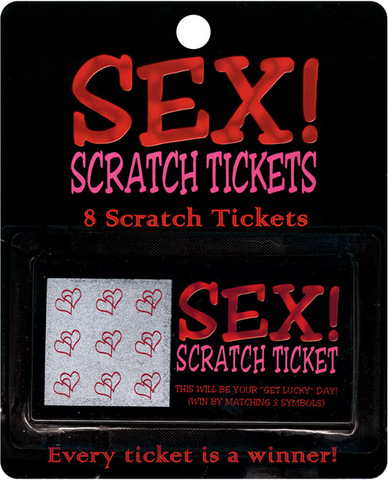 Sex! scratch tickets