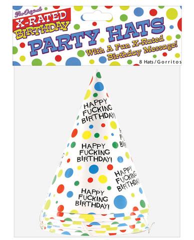 Happy fucking birthday hats - 8 per pack