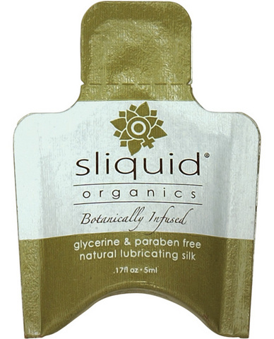 Sliquid organics silk lubricant - .17 oz pillow