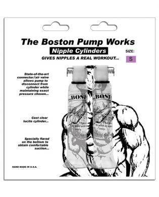 Boston pump works nipple cylinders  1/2  -  pair