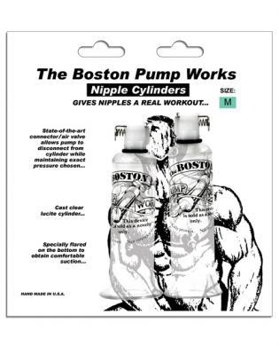 Boston pump works nipple cylinders  3/4  - pair