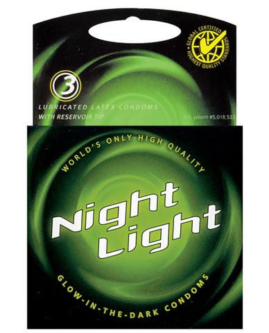 Night light glow in the dark condom - 3 pack