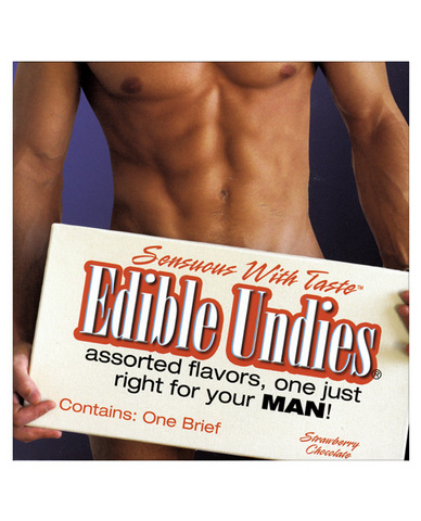 Edible Undies for Men Strawberry Chococlate