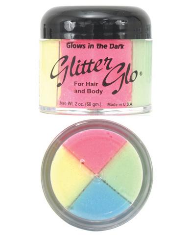 Glow in dark glitter 4 color - 2 oz