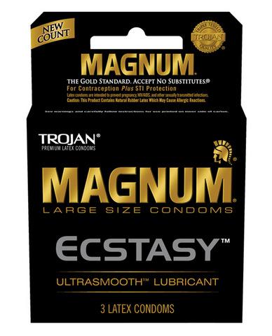 Trojan magnum ecstasy condoms - box of 3