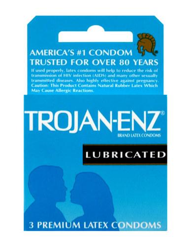 Trojan ENZ Lubricated Condoms 3 Pack