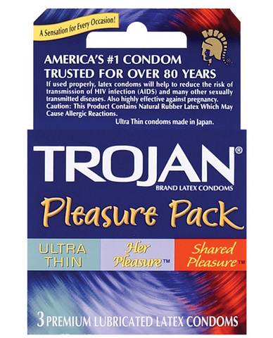 Trojan pleasure pack 3-pack