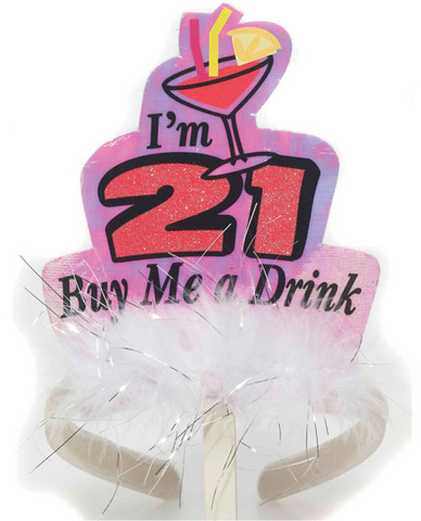 Legally 21 headband - i'm 21 buy me a drink t
