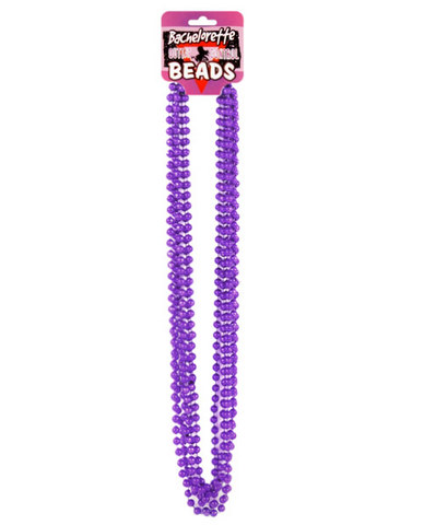 Bachelorette outta control beads (6) metallic purple