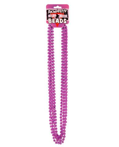 Bachelorette outta control beads (6) metallic pink