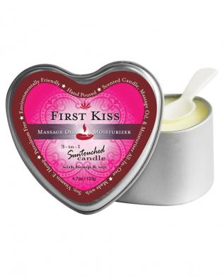 Earthly body 3 in 1 candle - 4 oz first kiss