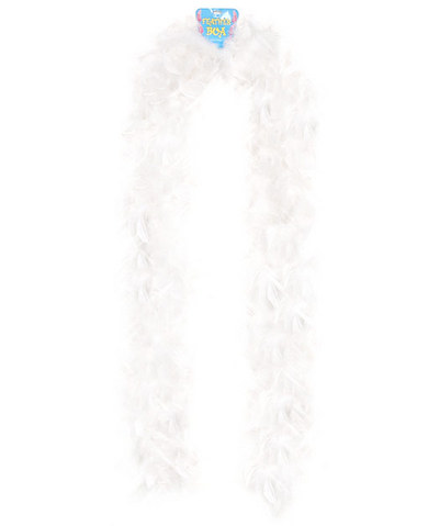 Feather boa 72in - white