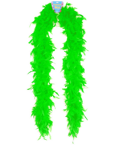 72in feather boa - green