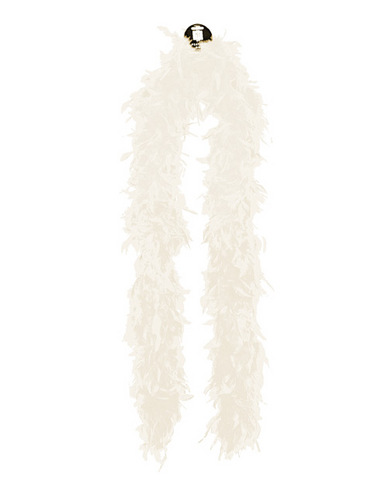 Medium weight feather boa - white