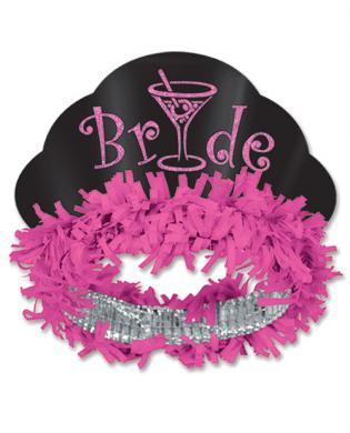 Bride Glittered Paper Tiara
