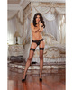 Fence Net Thigh High Stockings Black O/S
