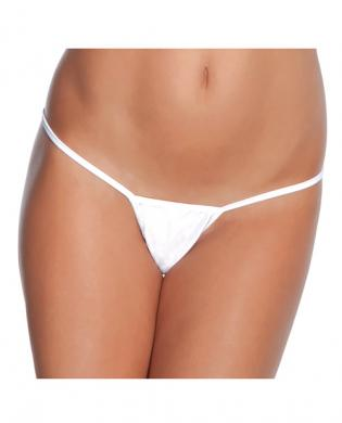 Low rise lycra g-string white xl