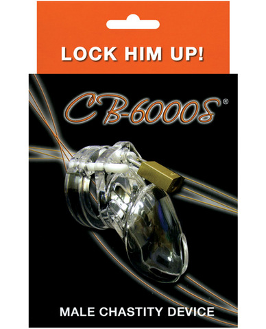 Cb-6000s Male Chastity Device 2 1/2in cock cage and lock set - clear