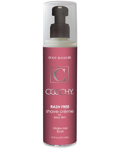 New coochy body rashfree shave creme - 16 oz blush
