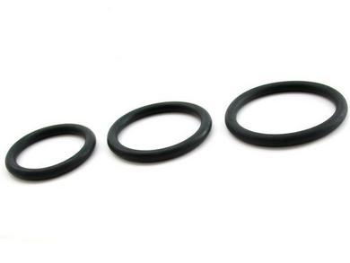 H2H nitrile cock ring 3 pack black