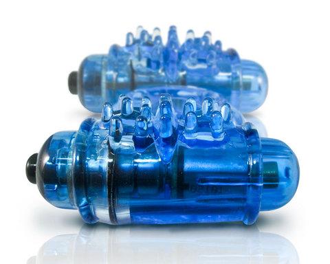O Wow Double Wammy Blue Vibrating Ring