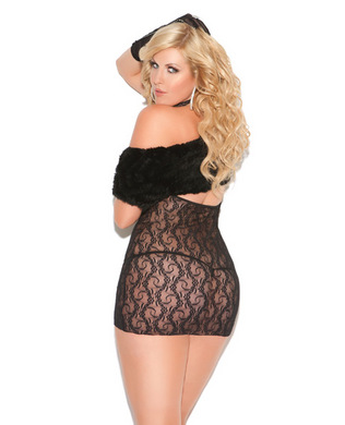 Vivace cupless lace dress black qn