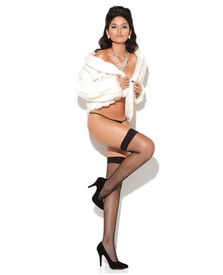 Vivace fishnet thigh high black o/s