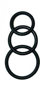 Super Silicone Cockrings - Black