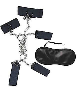Dominant submissive collection - 4 cuffs and a collar