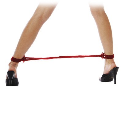 Fetish Fantasy Series Silk Rope Love Cuffs Red