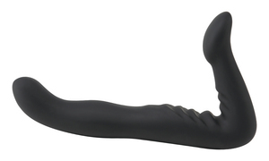 Silicone Strapless Strap On Black