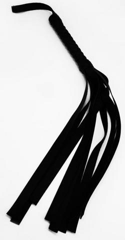 Faux Leather Flogger Black