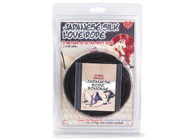Japanese Silk Love Rope 10 Feet Black
