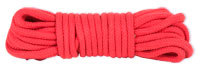 Japanese Style Bondage Rope Cotton Red 32 Feet