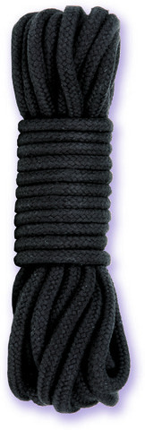 Japanese Style Bondage Rope Cotton Black 32 feet