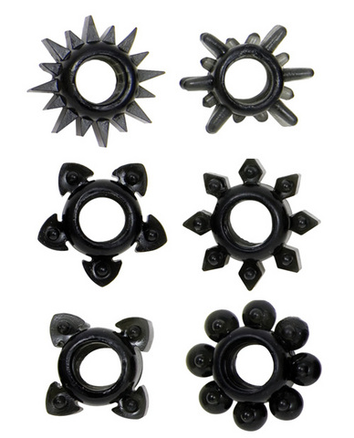 Tower Of Power C Rings 6 Pack - Black