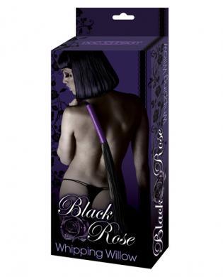 Black Rose Whipping Willow Black Purple Flogger